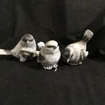"3"" Grey Stone Look Bird Figurine 3A"