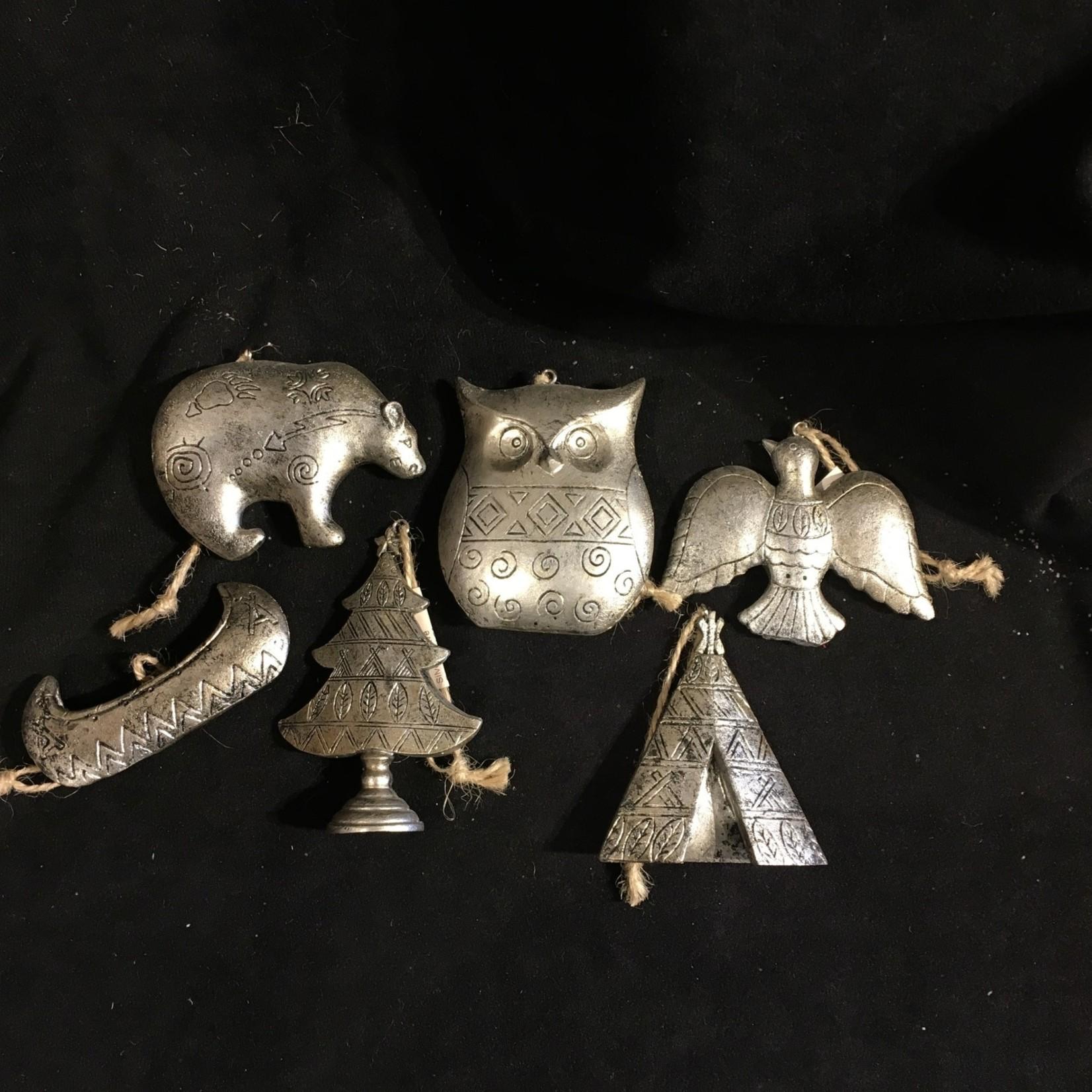 Antique Silver Native Ornament 6A