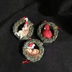 Bird/Animal in Wreath Orn 3A