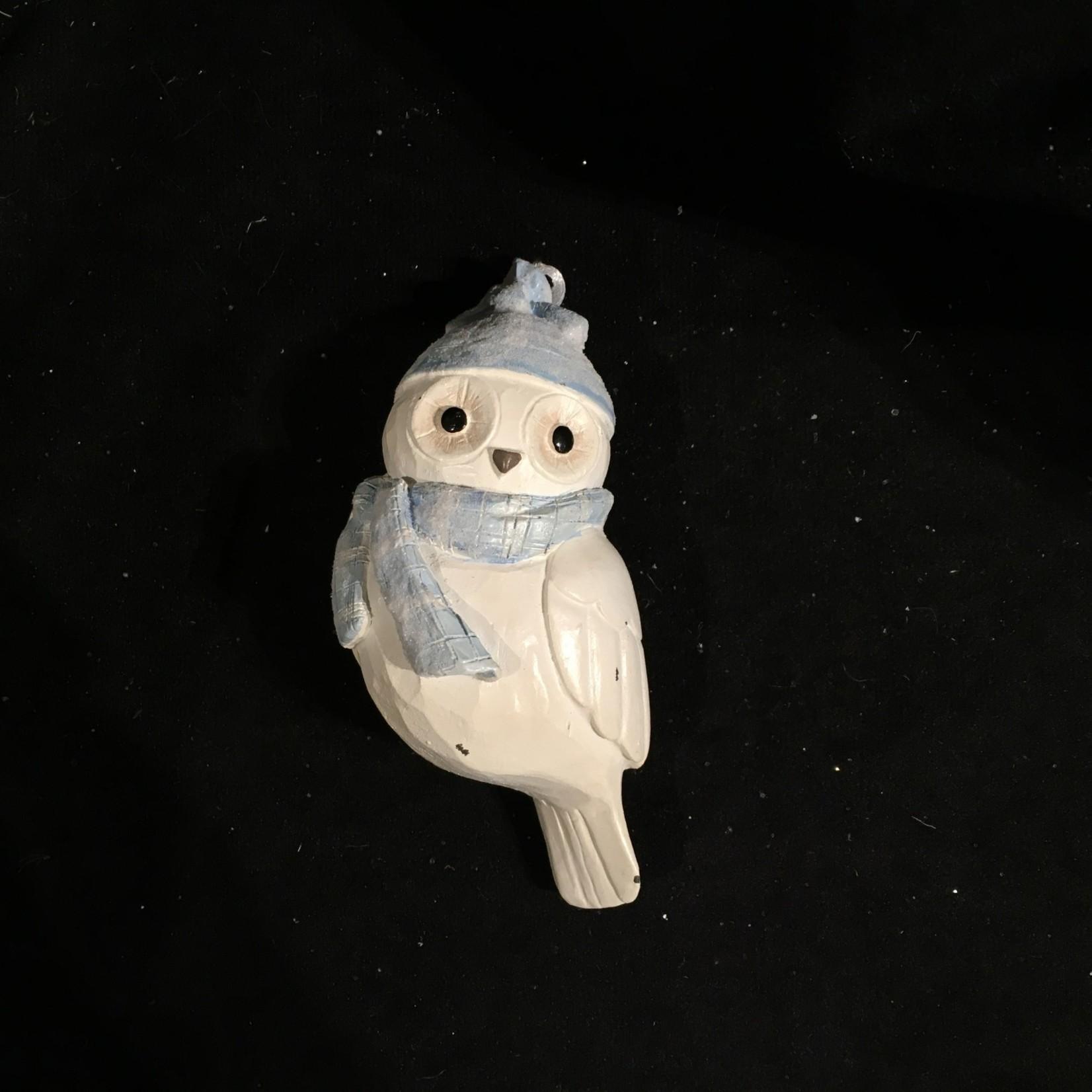 **Antique White Owl Orn
