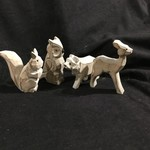 "4"" Carved Woodland Animals 4A"