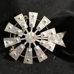 """6"""" Metal Farm Windmill Ornament"""