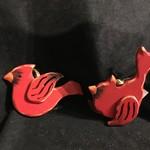 Large Wood Cardinal Orn 3A
