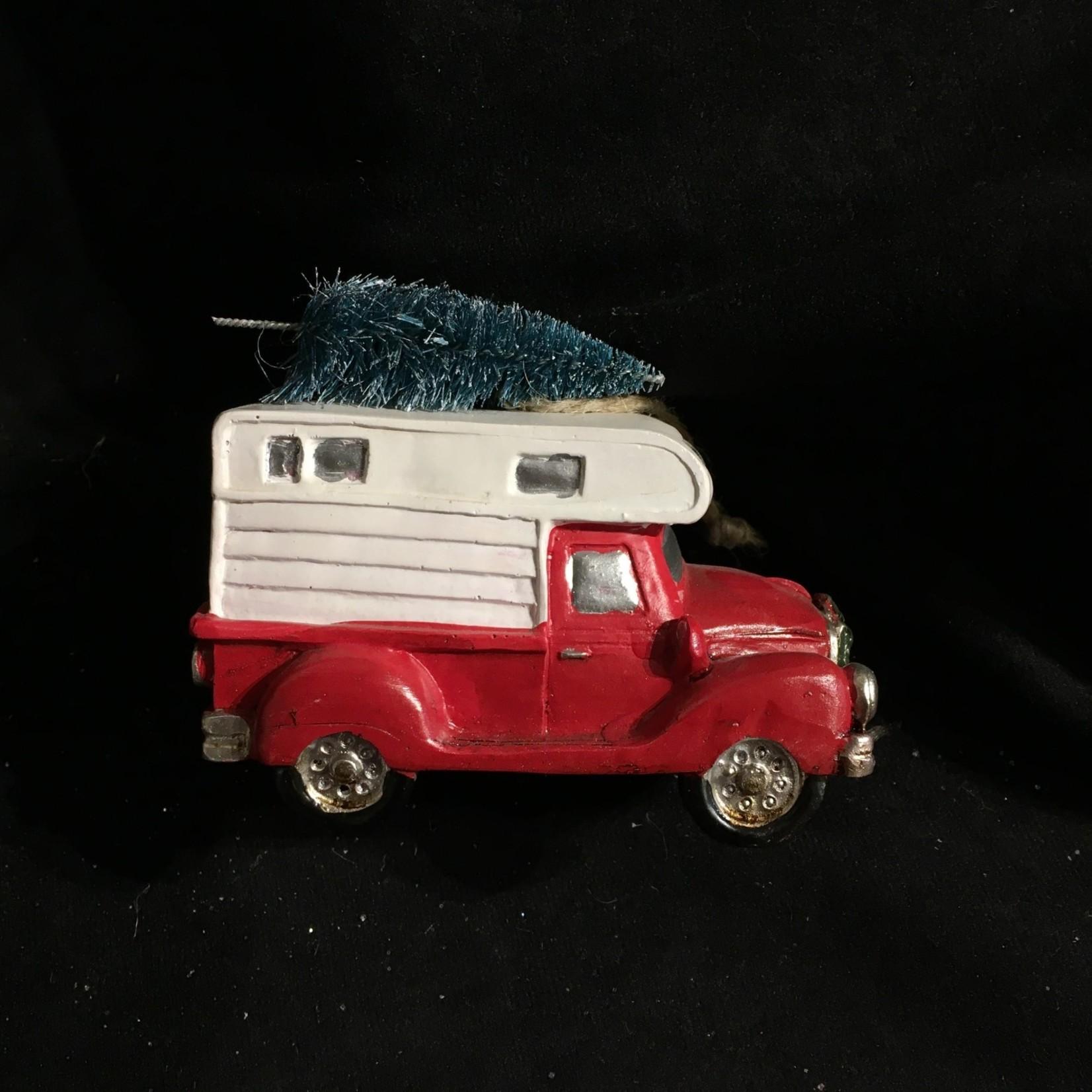 """4"""" Truck w/Camper & Tree"""