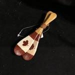 Crossed Paddles w/Flag Ornament