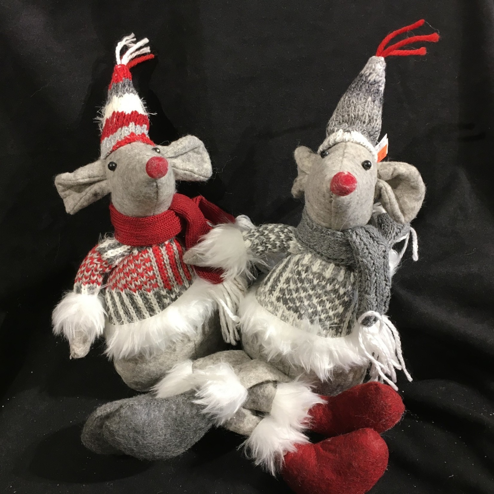 "12"" Sitting Mouse w/Sweater 2A"
