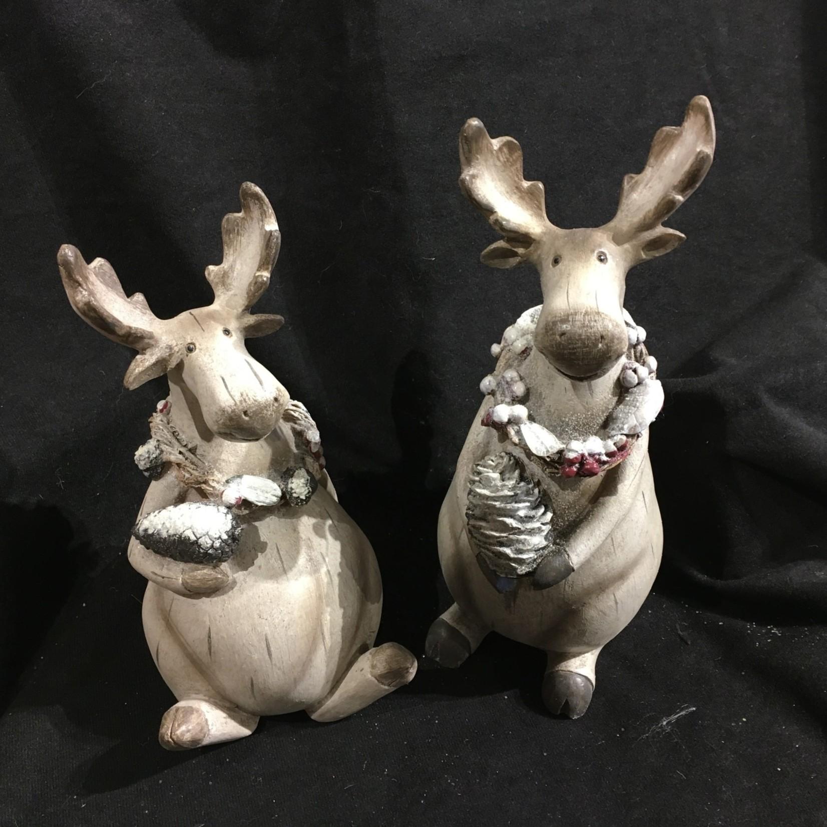 """10"""" Fat & Happy Moose Figurine 2A"""
