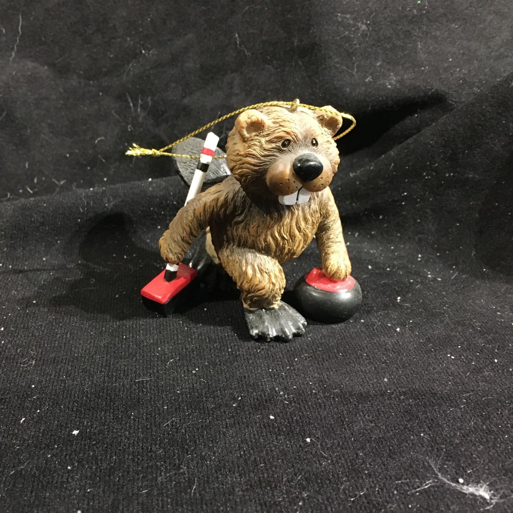 Beaver Curling Ornament