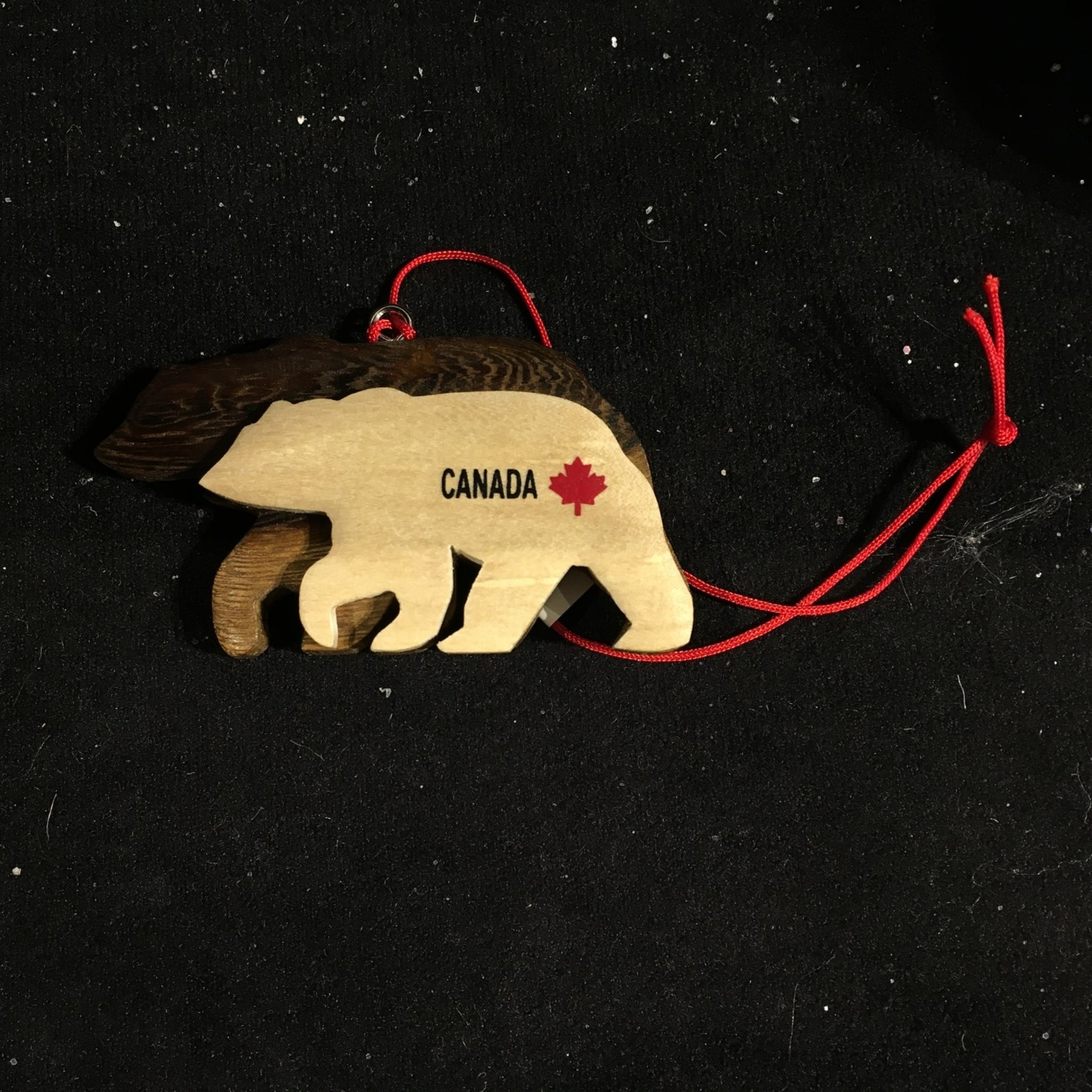 Double Layered Bear Ornament