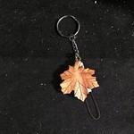 **Natural Maple Leaf Mini Wood Key Chain