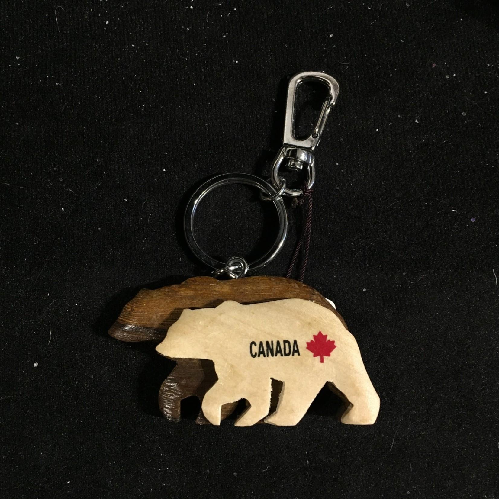 Double Layered Bear Key Chain