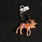 **Moose w/Canada Hoof Print Key Chain