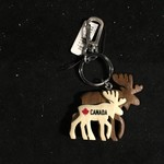 **Double Layered Moose Key Chain
