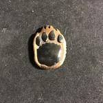 **Bear Paw Wood Magnet