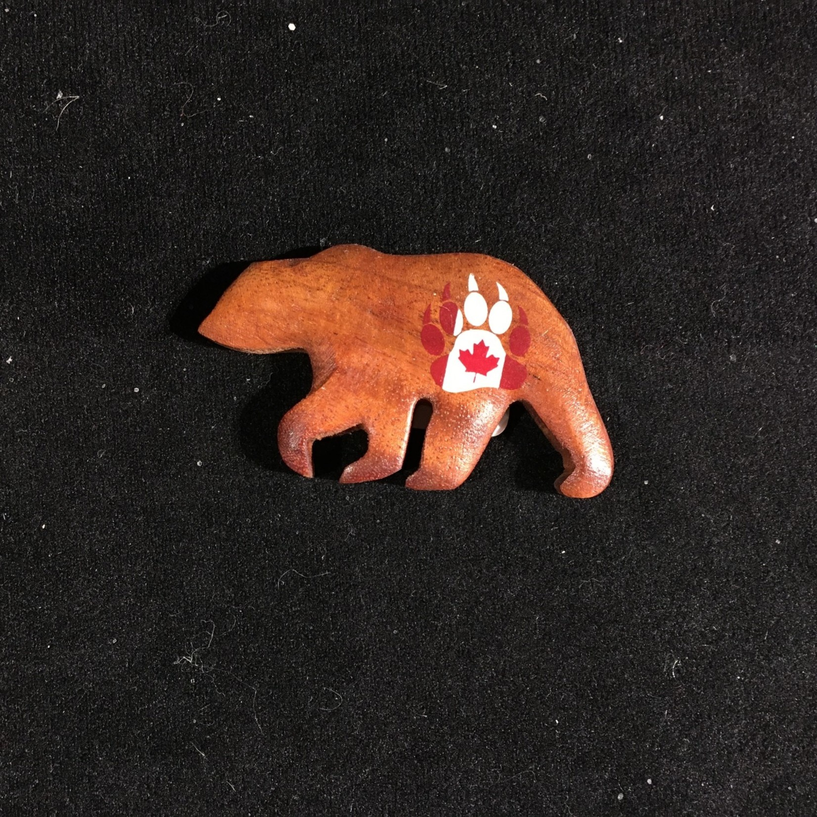 Bear w/Canada Paw Print Magnet