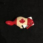 **Canada Flag Beaver Wood Magnet