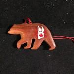 Bear w/Canada Paw Print Ornament