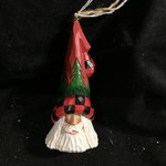 "5"" Carved Santa Orn w/Tree Trim"