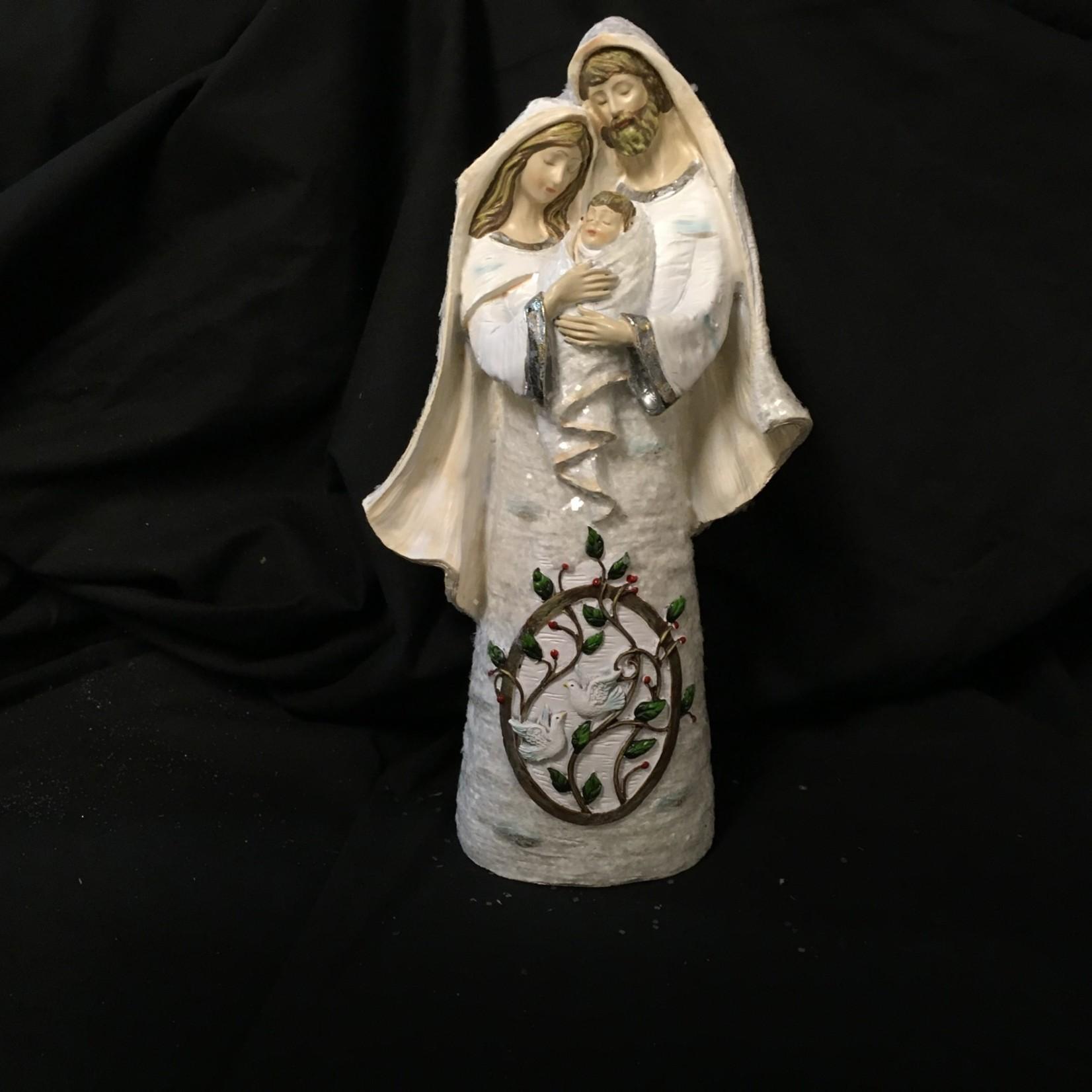"10.5"" Snow Birch Holy Family Figurine"