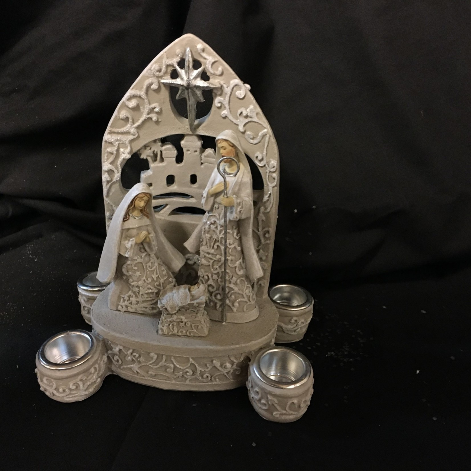 Holy Family Papercut Candle Holder