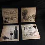 Wine Stoneware Coasters (4 pk)