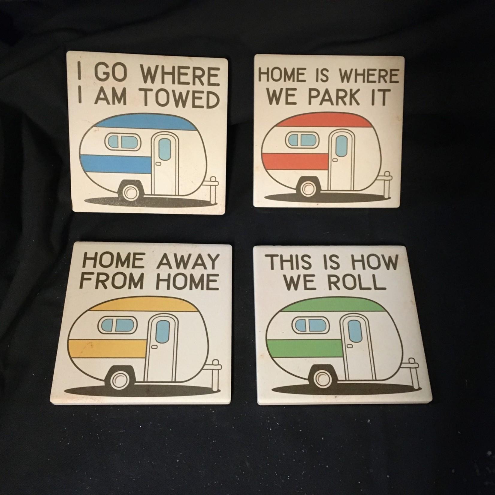 **Camper Stoneware Coasters (4 Pk))