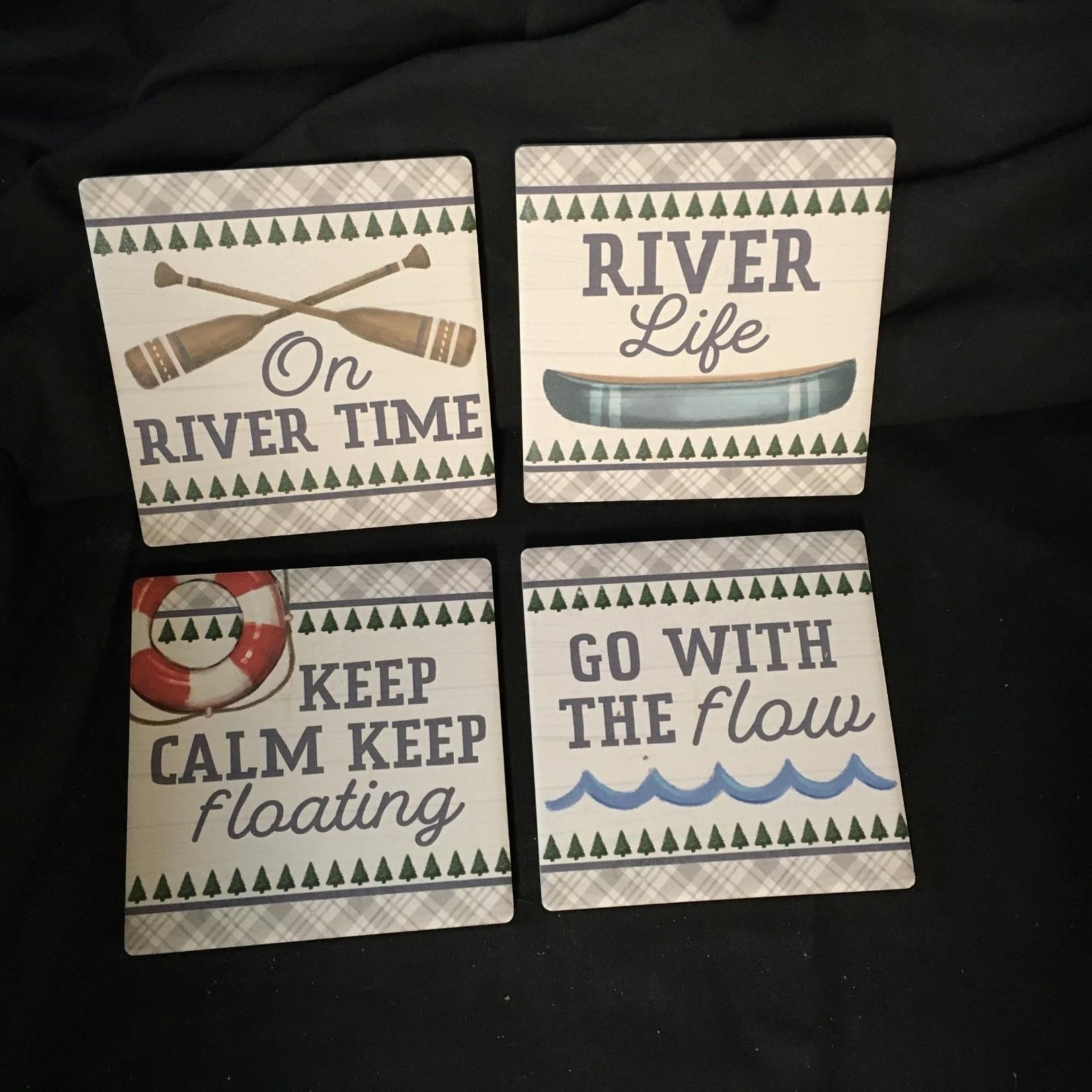 Plaid River Stoneware Coasters (4 pk)