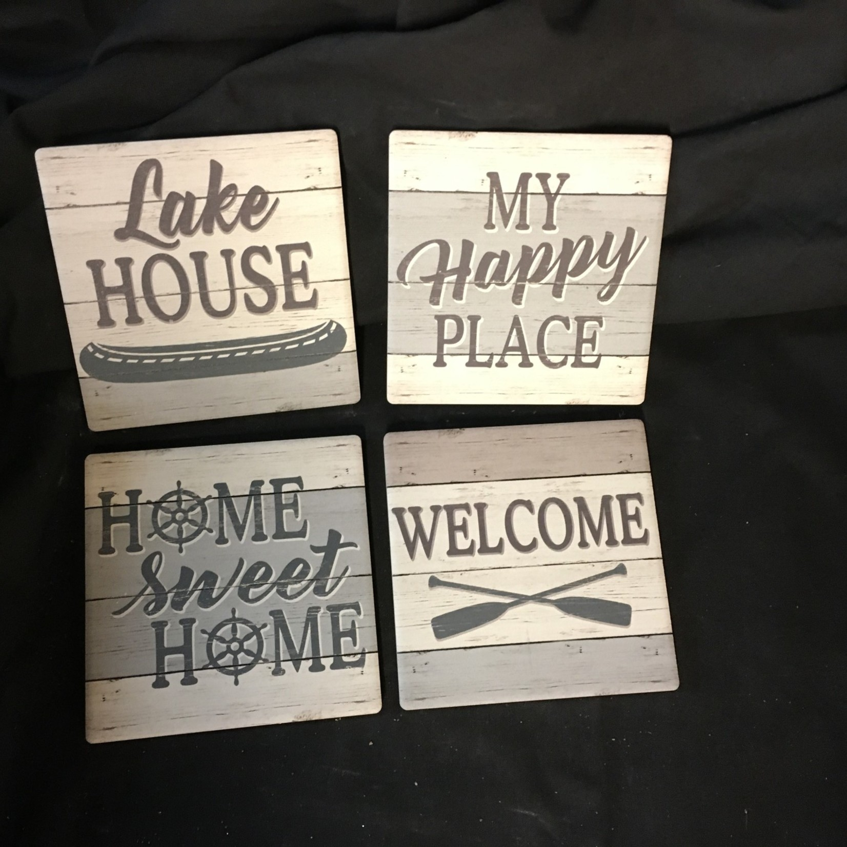 Lake House Stoneware  Coasters (4 pk)