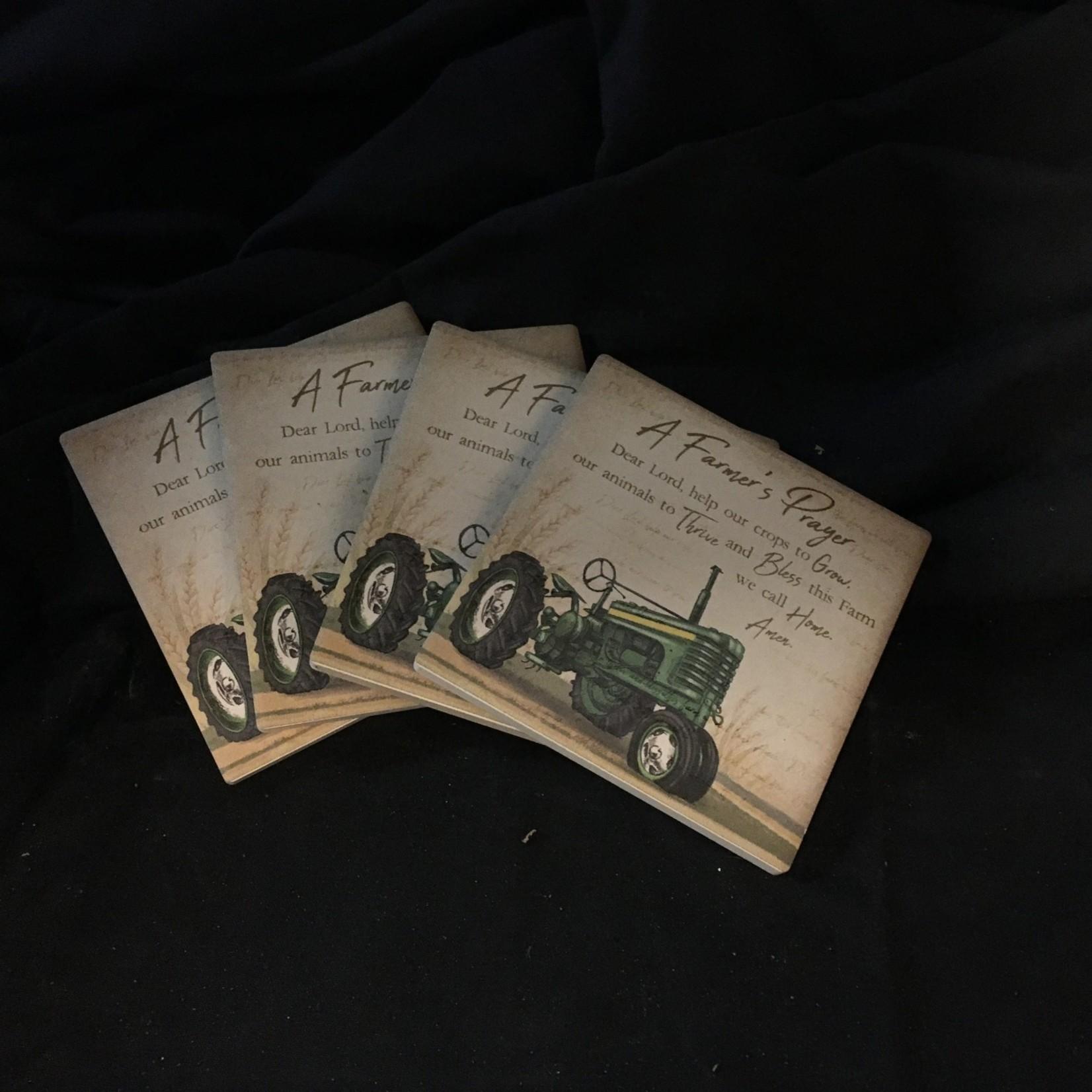 Farmer's Prayer Stoneware Coasters (4 pk)