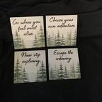 Tree Adventure Stoneware Coasters (4 pk)