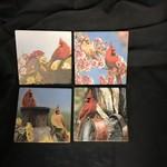 Cardinal Stoneware Coasters (4 pk)