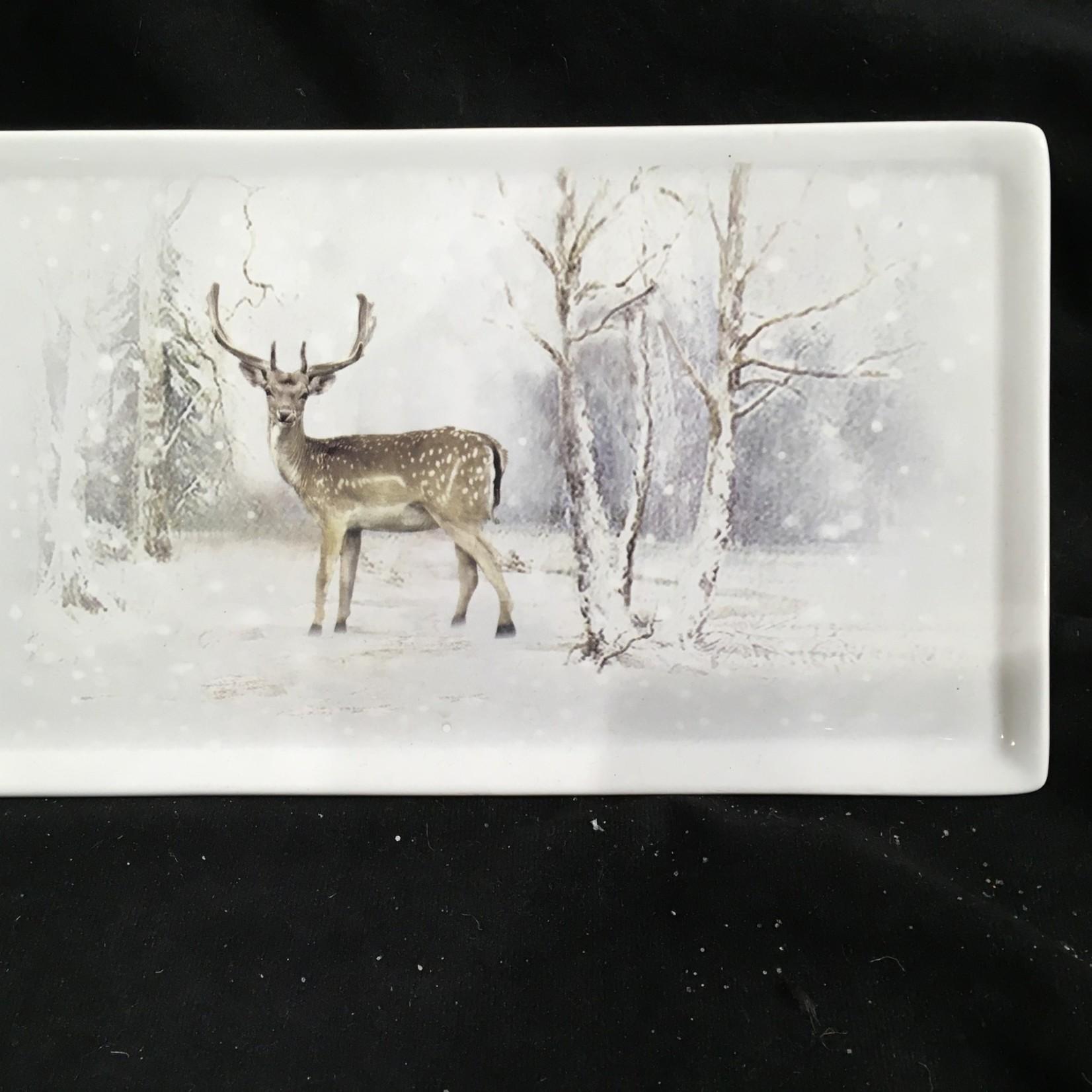 "10"" Platter w/ Deer Scene"