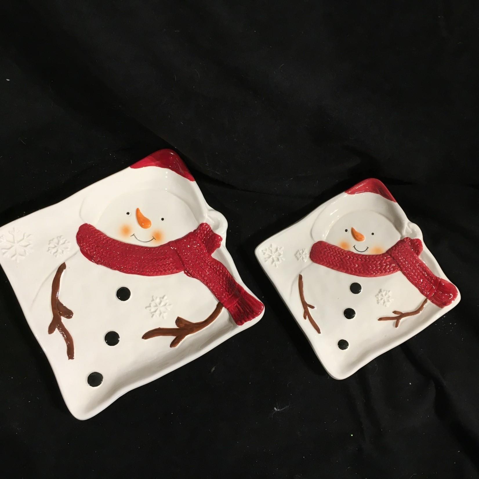 "Snowman Plates 8""/6"" (Set of 2) (box)"