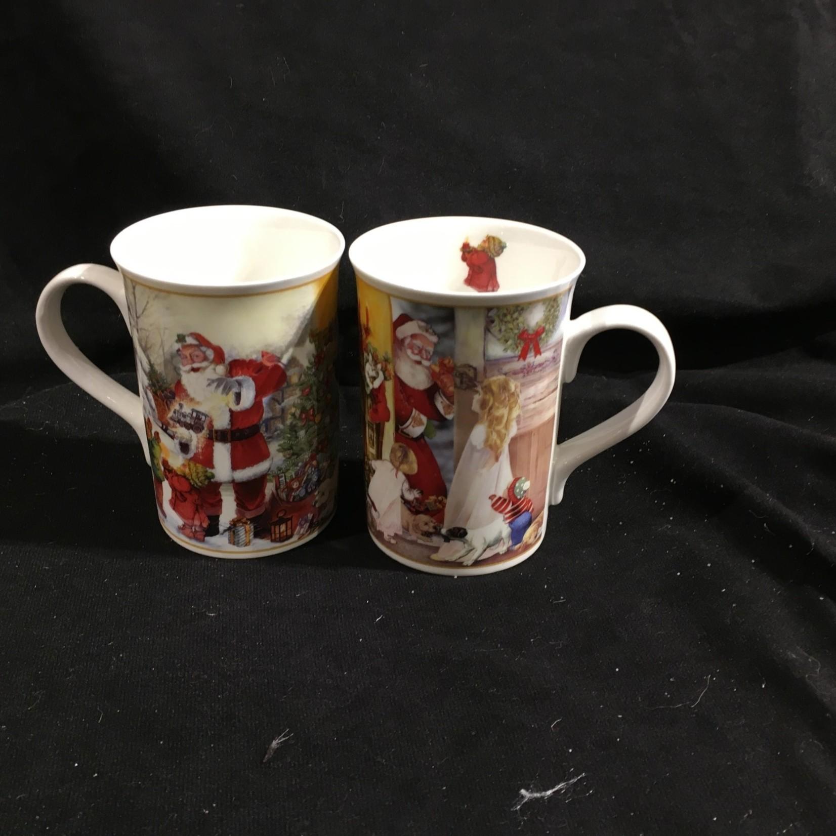 **Santa w/Kids Mug (Set of 2)