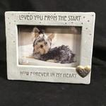 "4x6 Pet  Memorial Frame ""Loved"""