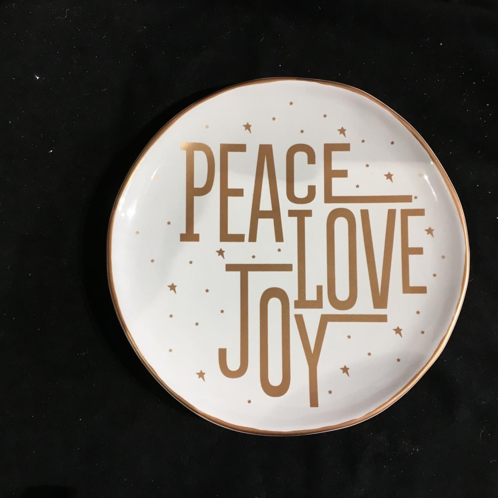 "8"" Accent Plate - Peace Love Joy"