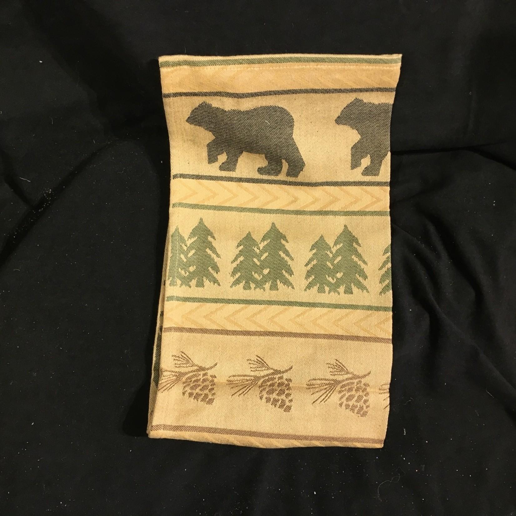Bear Tracks Jacquard Tea Towel