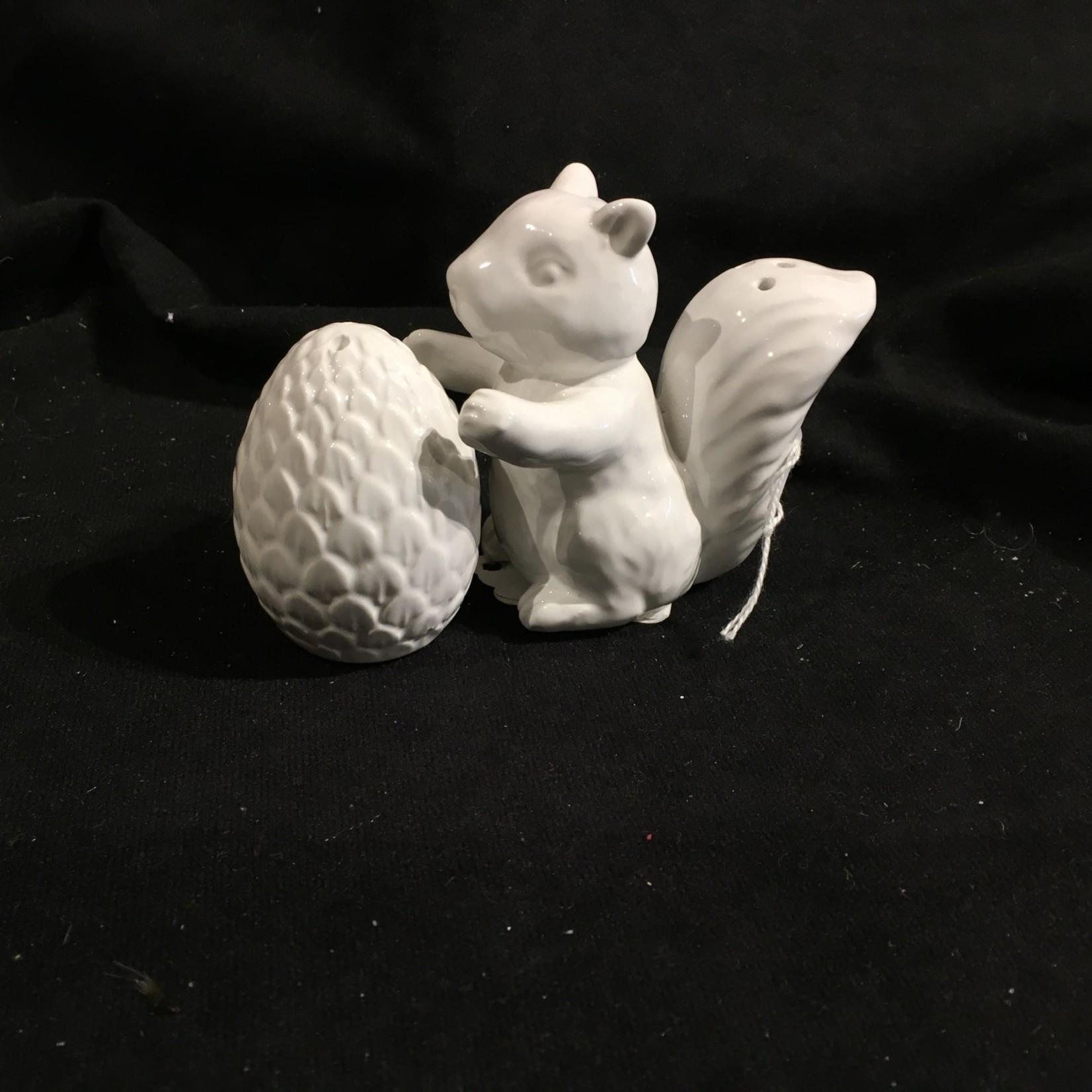 White Squirrel/Acorn Salt & Pepper
