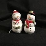 Snowman Couple Salt & Pepper