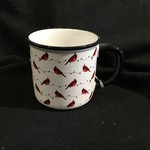 White/Red Cardinal Mug