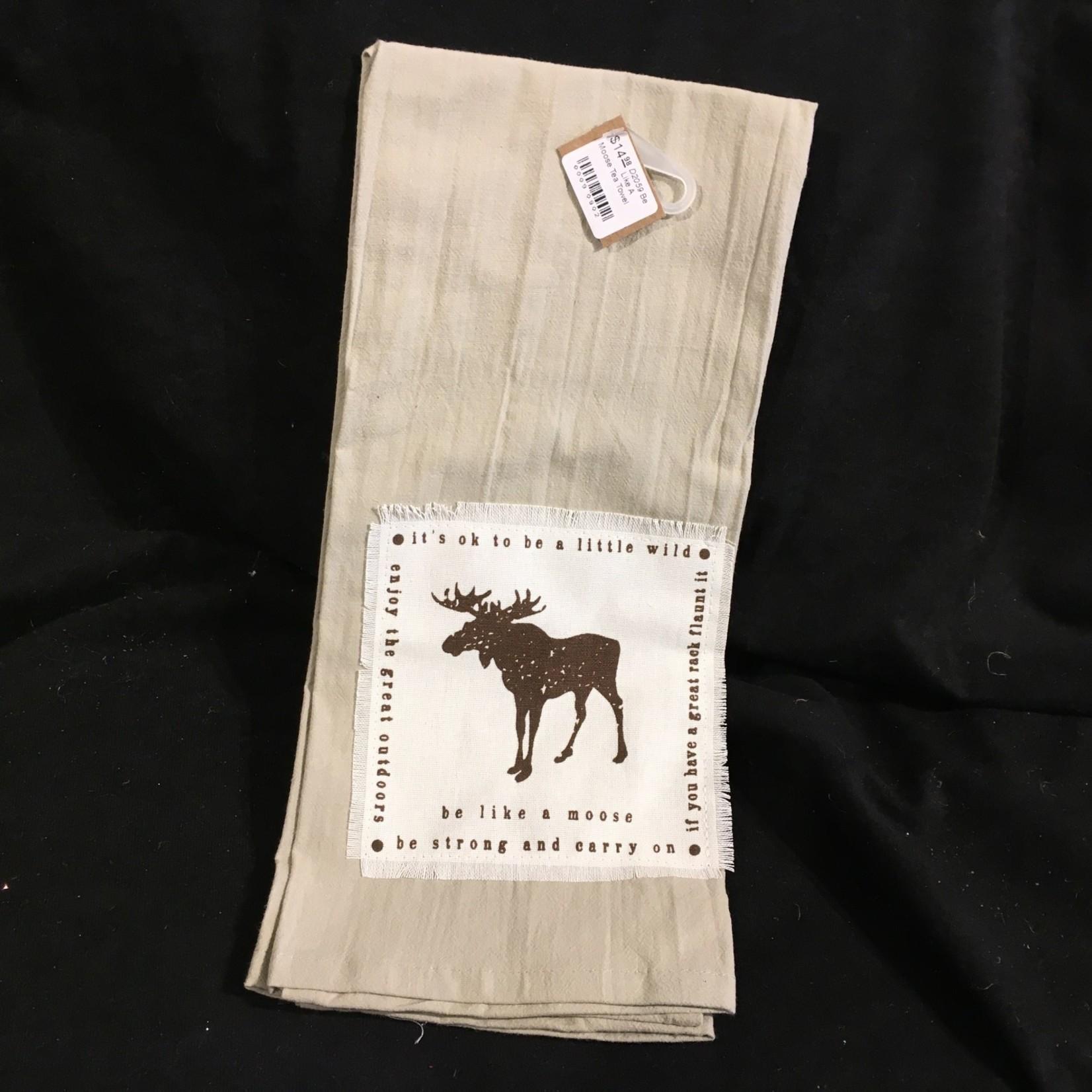 **Be Like A Moose Tea Towel