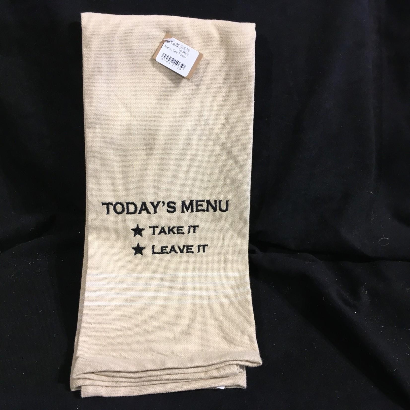 Today's Menu Tea Towel