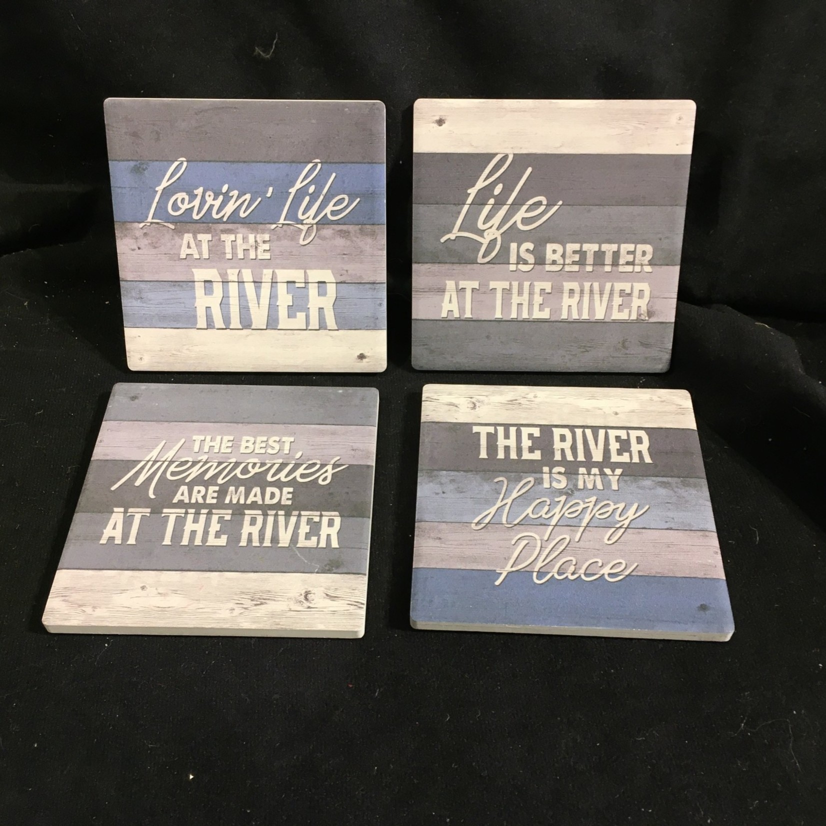 River Stoneware Coasters (4 pk)
