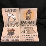 Camping Coasters (4 pk)
