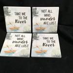 Kayaking Stoneware Coasters (4 pk)