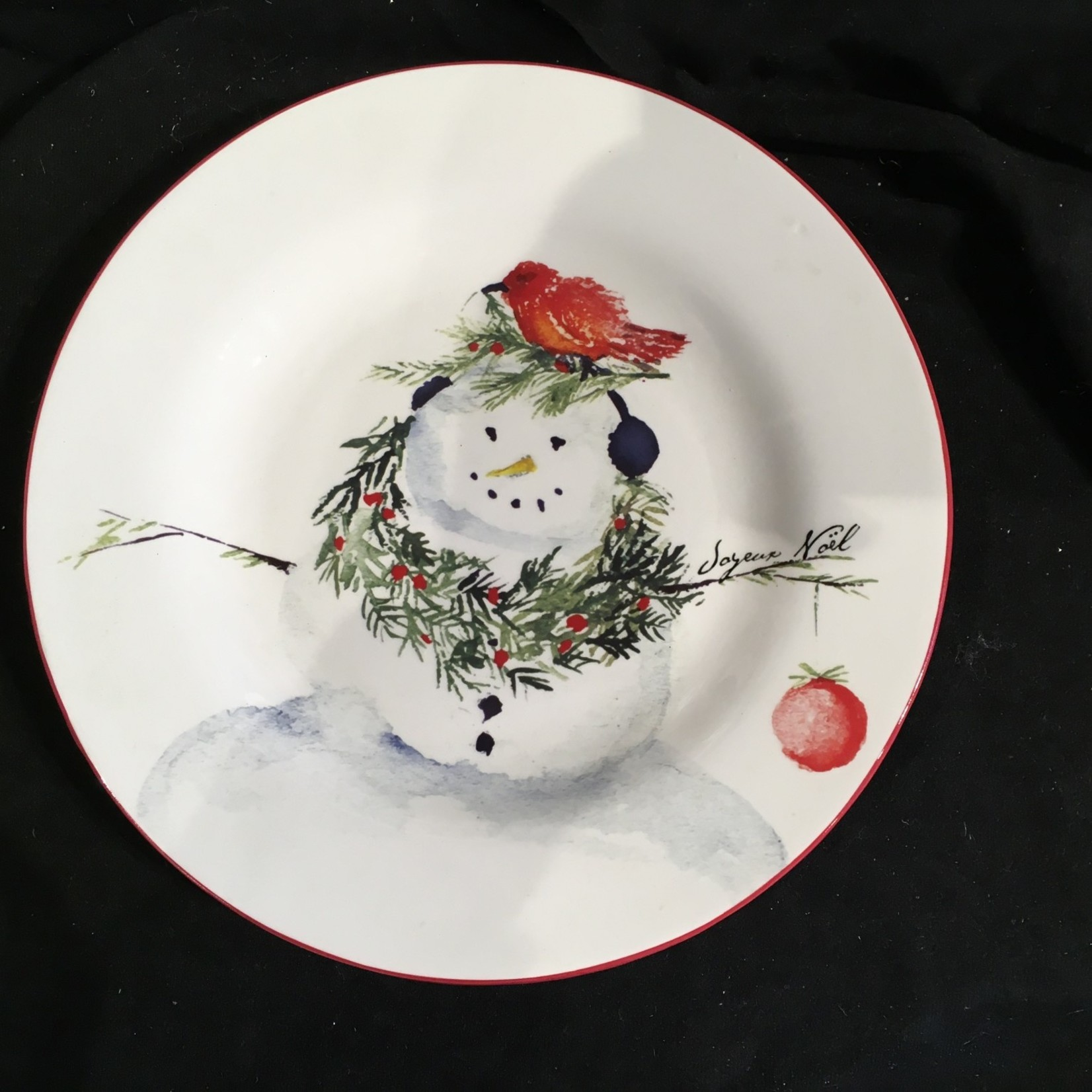 "10"" Snowman Plate 4A"