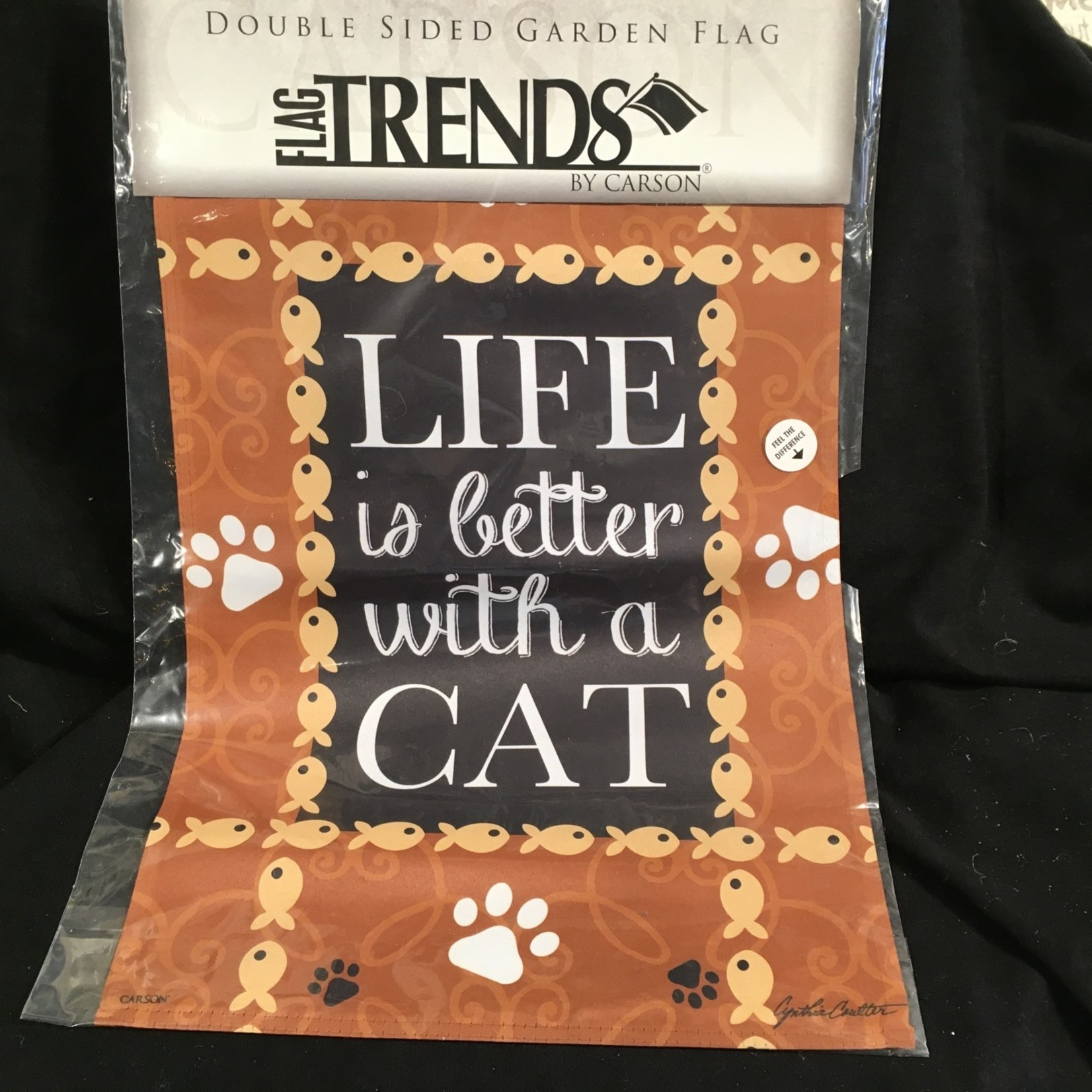 Flag - Life is Better - Cat