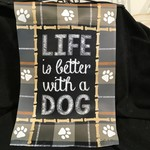**Flag - Life is Better - Dog