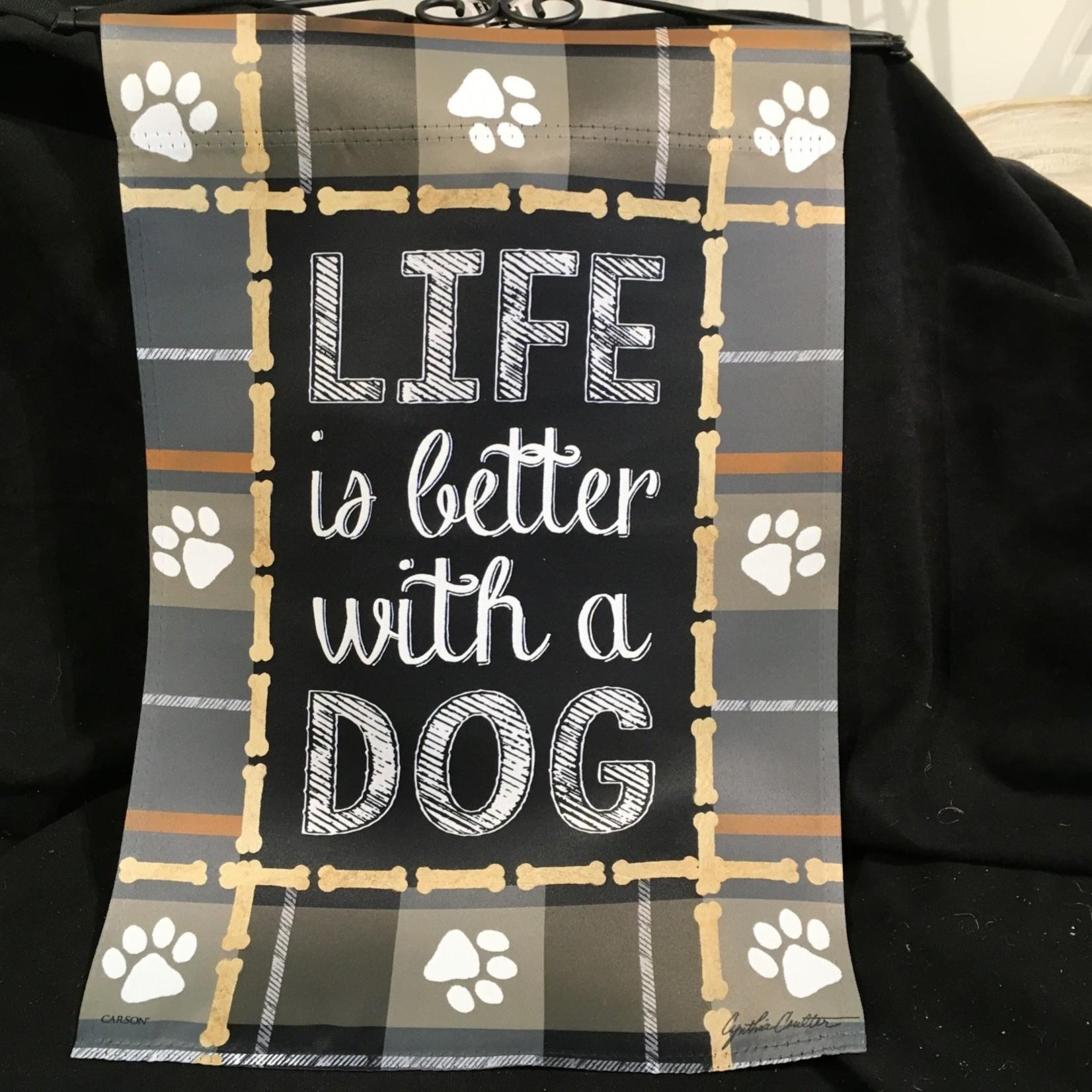 **Flag - Life is Better - Dog