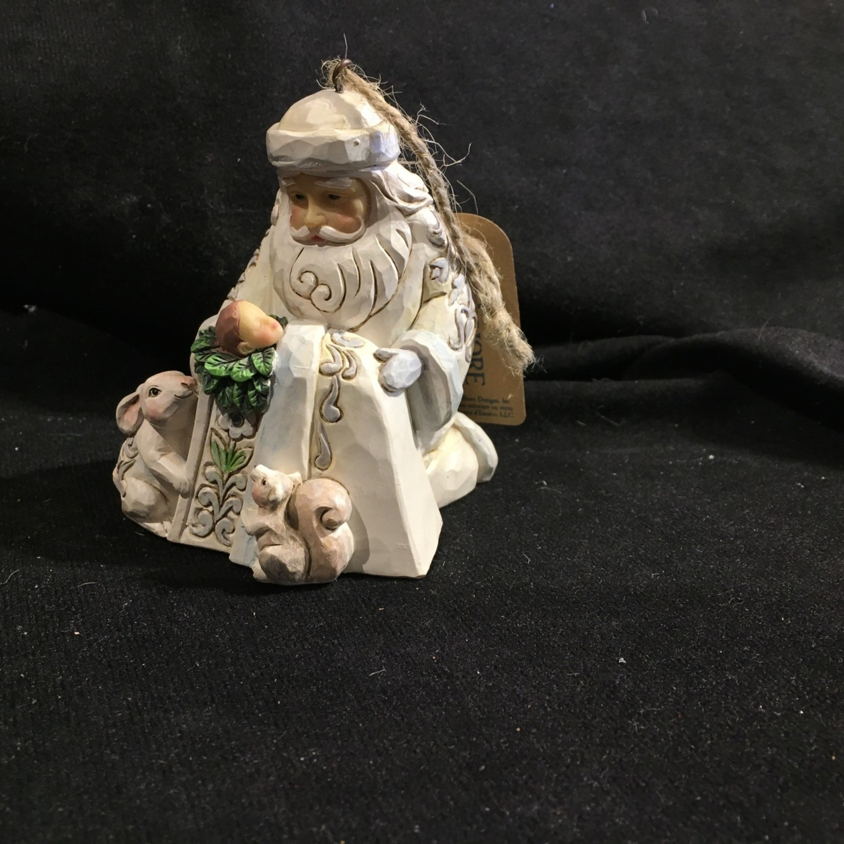 Jim Shore - Woodland Santa w/Baby Jesus Orn.